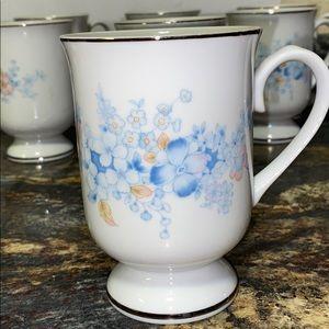 Genuine Porcelain China fancy floral cups